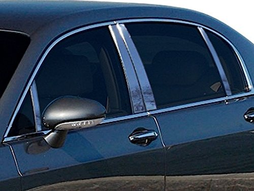 QAA fits 2006-2012 Bentley Continental Flying Spur 8 Piece Stainless Pillar Post Trim PP26999