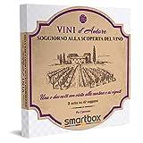 smartbox - Cofanetto Regalo Soggiorno alla Scoperta del Vino - Idea Regalo Originale - 1 o 2 Notti con Visita...