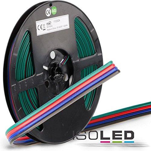 RGB Kabel, 4-polig, Farbkennzeichnung, 4x0,5mm, Bund 10m