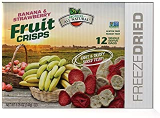 Brothers-ALL-Natural Fruit Crisps, Strawberry Banana, 0.42 Ounce (Pack of 12)