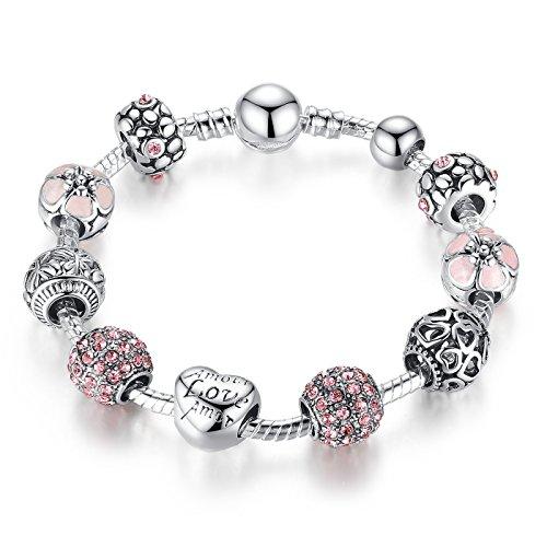 pulsera amor brazalete plata para boda de las mujeres niña cumpleaños