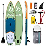DAMA Inflatable Stand Up Paddle Board 11'x32 x6, Inflatable Yoga Board, Dry Bags, Camera Seat, Floating Paddle, Double Action Pump, Board Carrier, Durable & Stable for 3 People