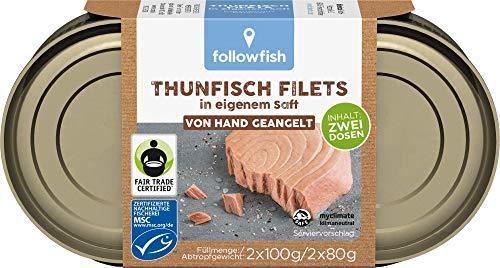 followfish MSC Thunfisch Filets im eigenen Saft Duopack, 2 x 100 g