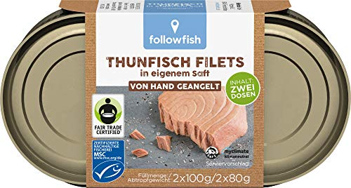 followfish MSC Thunfisch Filets im eigenen Saft Duopack, 2 x 100 g