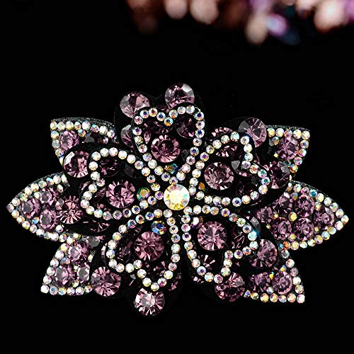 GSAGJyec Pins Cheveux Strass Cristal Pinces à Cheveux for Les Femmes Mesdames Cristal Étincelle Parole Cheveux Accessoires Cheveux Barrette métal (Color : Pink)
