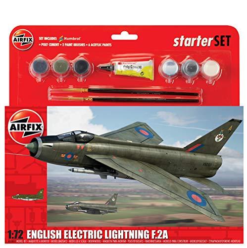 Airfix 1/72 Scale A55305 - English Electirc LIghtning F.2A - Starter Set