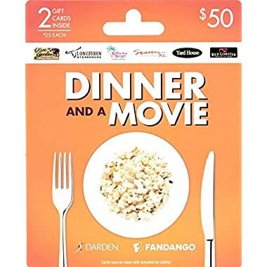 Darden-Fandango Dinner and a Movie Gift Cards, Multipack of 2