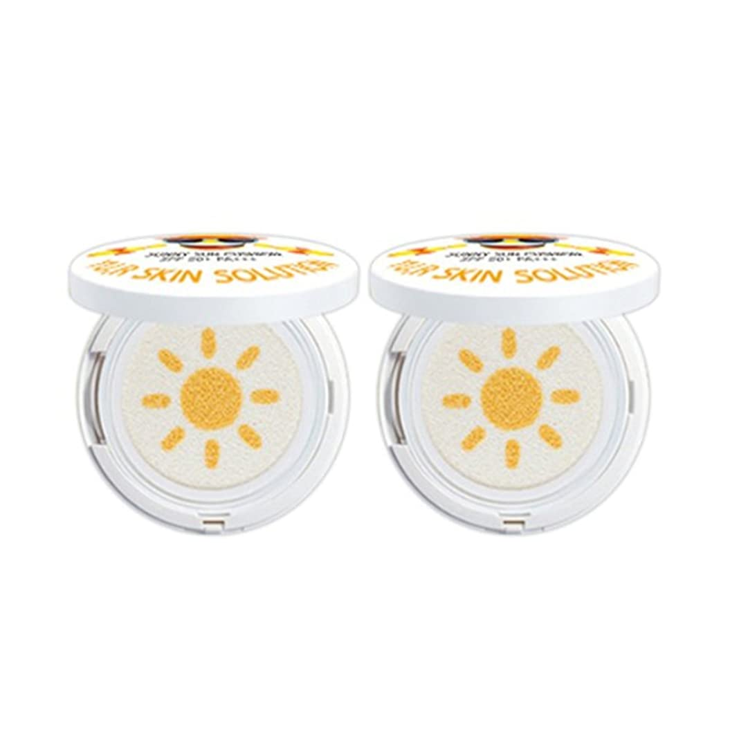 煙突悲鳴焦げYU.R Skin Solution Sunny Sun Cushion サニー·サン·クシオン SPF50+,PA+++, 0.88oz(2pack) [並行輸入品]