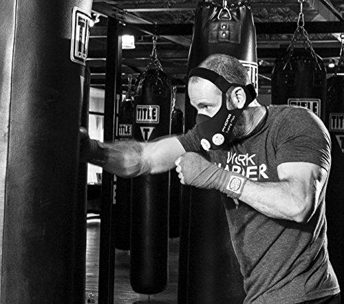 Phorb Training Mask schwarz Größe m Atemmaske für Crossfit Trainingsmaske steigert Ausdauer Fitness Kondition ähnelt Höhentraining - 9