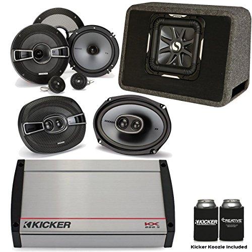 "Kicker KX8005 5-Channel amp, a Pair of KS 6.5"" Components, a Pair of KS 6x9 Speakers, 10"" L7 in Truck Box"