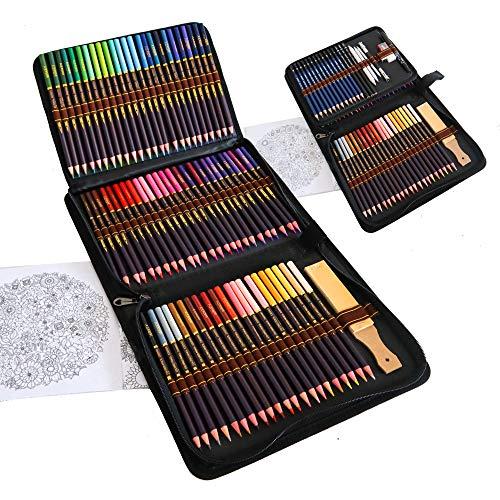 Kit Dibujo Completo 96 piezas - Principiantes o profesionales, Estuche de 72 Lapices Colores, 12 Lapices de Dibujo y Accesorios, Ideal para Artistas, Adultos y Niños