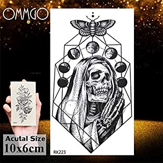 Astronaut Star Universe Tattoos Temporary Finger Neck Tattoo Sticker Planets Round Tatoos Body Art Arm Small Outspace (Color : ORK223)