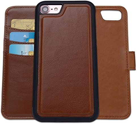 SHANSHUI Wallet Case Compatible with iPhone se 2020 iPhone 7 iPhone 8 RFID Blocking Magnetic product image