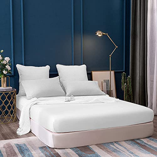 """Luxury Fitted Sheet 100% Egyptian Cotton 400 Thread Count 12"""" / 30 cm..."""