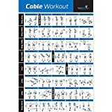 Laminated Cable Exercise Poster - Hang in Home or Gym :: Illustrated Workout Chart with 40 Cable Machine Exercises :: for All Fitness Levels, Men & Women (18'x 27')