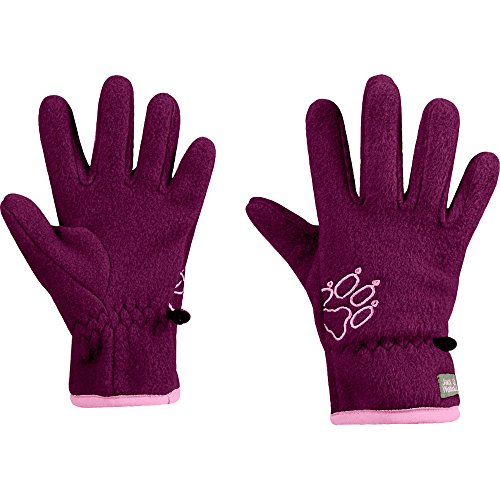 Jack Wolfskin Baksmalla Fleece Glove Kids, 140 Kinder, dark orchid
