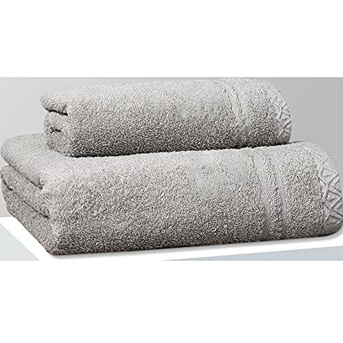 ZJM Juego de Toallas,2 Paquetes,3 Paquetes,1 * Toalla + 1 * Toalla de baño,2 * Toalla + 1 * Toalla de baño,Toallas de Alta absorción,Toallas de baño de algodón