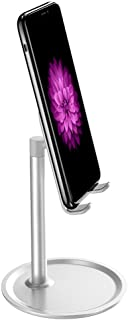 Adaskala Cell Phone Tablet Stand Angle Angle Adjustable Desk Thick Case Friendly Phone Holder Stand for Desk Compatible wi...