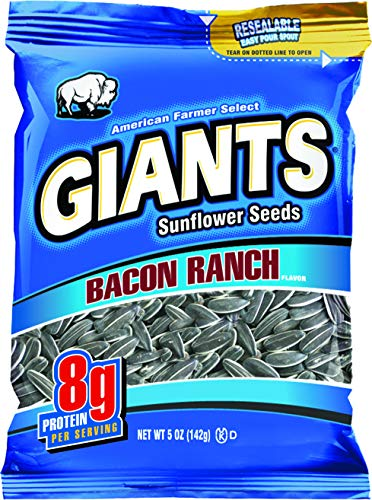 Bacon Ranch Flavored GIANTS Sunflower Seeds, 12-5 oz bags