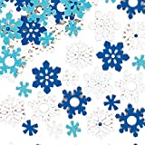 Baker Ross Adesivi con fiocchi di neve in feltro (confezione da 78) Artigianato e progetti artistici per bambini, cartoline, regalini di fine festa e decorazioni.