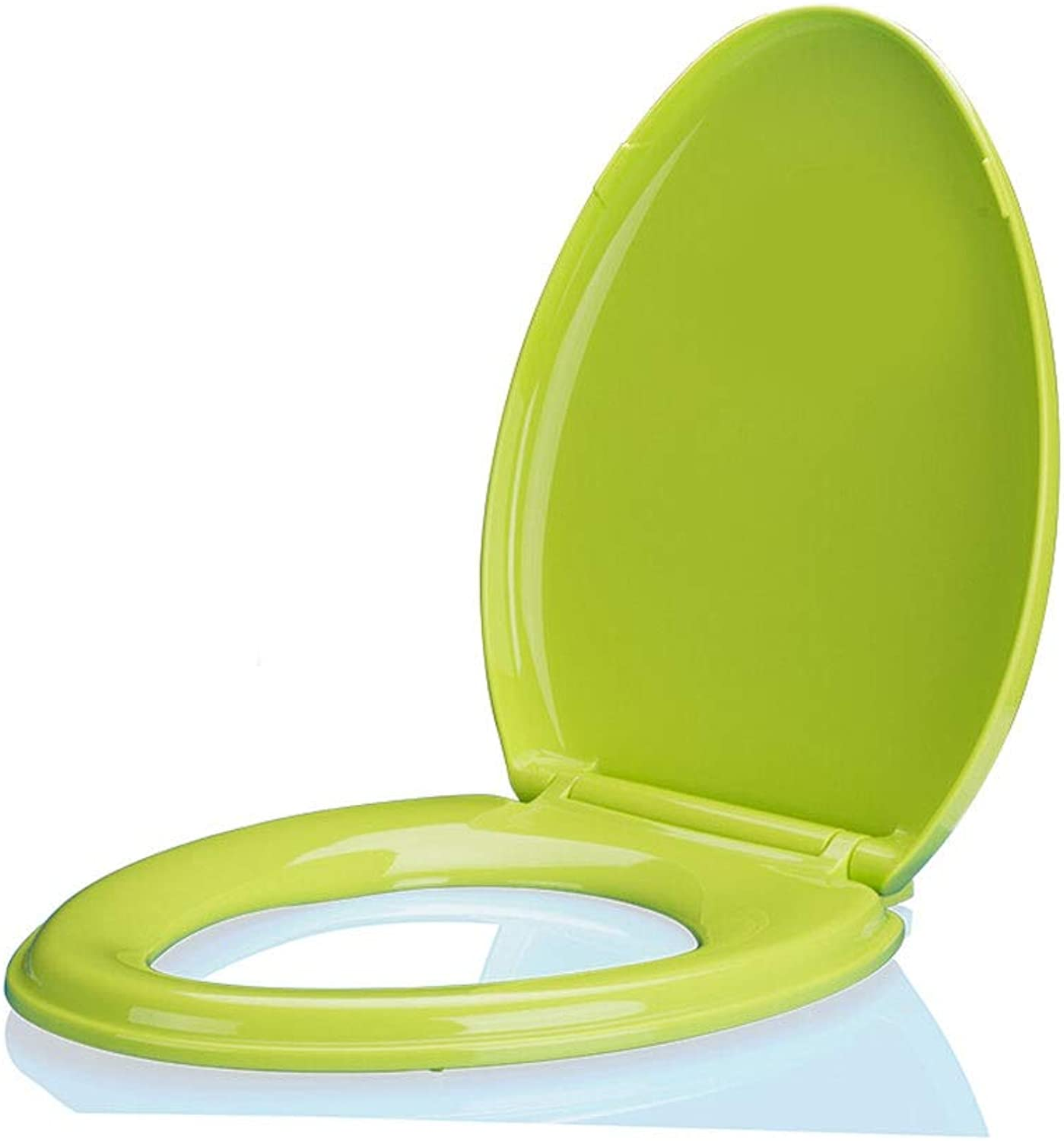 Toilet seat MASSAGIE color Universal Thickening Descending (color   Green)