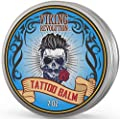 Viking Revolution Tattoo Care Balm for Before, During & Post Tattoo - Safe, Natural Tattoo Aftercare Cream - Moisturizing Lotion to Promote Skin Healing - Tattoo Brightening Treatment