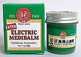 Fei Fah Extra Strength Electric Medibalm External Analgesic 1.1oz(30g), Made in Singapore - Aching Joints, Rheumatic Pain, Stiff Neck, Abdominal Distension 惠华强力万应止痛膏 1.1盎士(30克) 新加坡制造 8887497080003