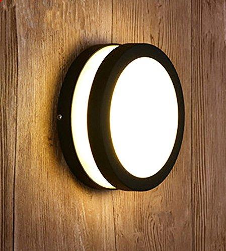 JJZHG wandlamp wandlamp waterdichte wandverlichting buitenmuur lamp tuin gang,rond groot, warm licht bevat: Wandlamp, stoere wandlampen, wandlampen ontwerp, wandlamp led