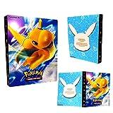 Raccoglitore porta carte Pokemon, album Pokemon Cards GX EX Trainer, album di carte da collezione, 30 pagine - Può contenere fino a 240 carte (Dragonite)
