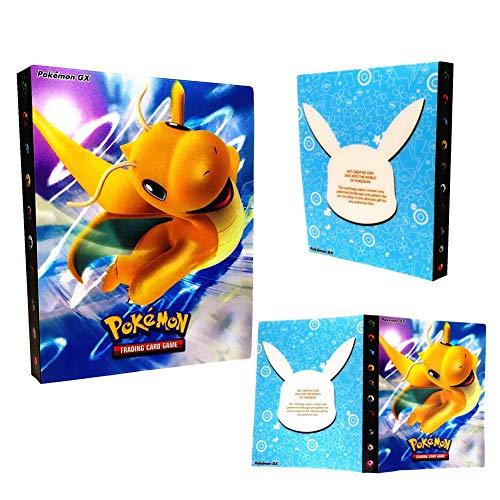 Dorara Pokemon Kartenhalter, Pokemon Karten GX EX Trainer Alben, Sammelkartenalben, 30 Seiten Kann bis zu 240 Karten aufnehmen (Dragonite)