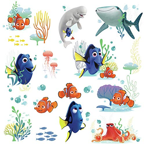 RoomMates RMK3142SCS Finding Dory Peel and Stick Wall Decals, Black