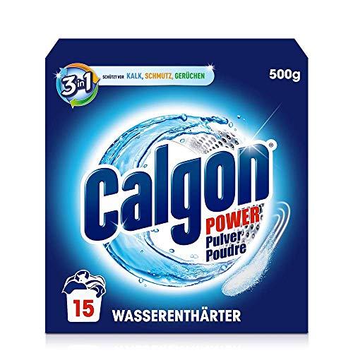 Preisvergleich Produktbild Calgon 3-in-1 Power Pulver Wasserenthärter gegen Kalkablagerungen und Schmutz in der Waschmaschine Beugt unangenehmen Gerüchen vor 1 x 500 g