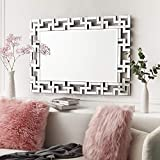 Art Decorative Wall Mirrors Large Grecian Venetian Mirror for Hotel Home Vanity Sliver Mirror (27.5' W x39.5 H)