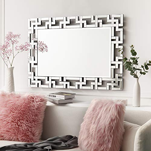 "Art Decorative Wall Mirrors Large Grecian Venetian Mirror for Hotel Home Vanity Sliver Mirror (27.5"" W x39.5 H)"