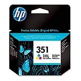 HP 351 Farbe Original Druckerpatrone für HP Deskjet, HP Officejet, HP Photosmart