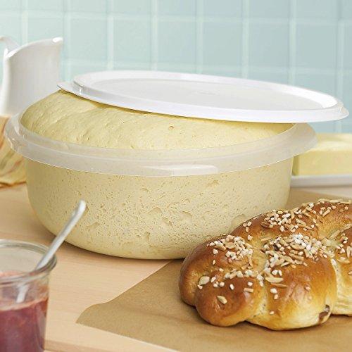 """Hefeteig-Schüssel \""""Plop\"""", Teigschüssel, mit Plopp Deckel, Pizzateig, Plastikschüssel, Rührschüssel, 6l, Ø 29 cm"""