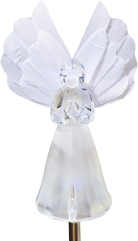 Limited price sale Solar Frosty Praying Angel Garden Light Fiber Optic Max 60% OFF Wing
