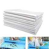 100 pcs Rabbit Cage Liners Disposable Large Plastic Mat...