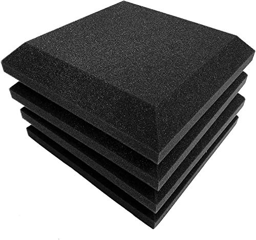 Fstop Labs 12 Pack Set Acoustic Foam Panels, 2' X 12' X 12' Acoustic Foam Sound Absorption, Soundproof Sound Insulation Absorbing, Acoustic Treatment Used in Home & Offices