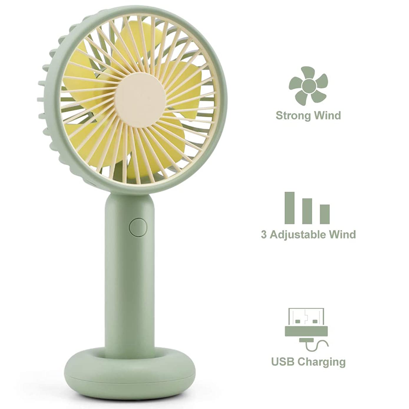 Mini Handheld Electric Fan -YIVIDA Portable Personal Outdoor Fan with USB Rechargeable Battery Operated -Desk Stroller Table Fan Long Working Time for Outdoor Office Home Camping Traveling
