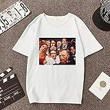 LFMDSY Camisa de Mujer Chemise Tops Casuales Ropa Tata Camiseta Vintage Camiseta Estampada con Manga Vegana XL Blanco
