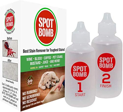 SPOTBOMB Industrial Strength Stain Remover for Carpet, Rugs, Tile and More (Pet Safe) Removes Urine, Feces, Blood, Wine, Coffee, & All Organic Stains, Deep Cleans & Removes Odor - Made in USA