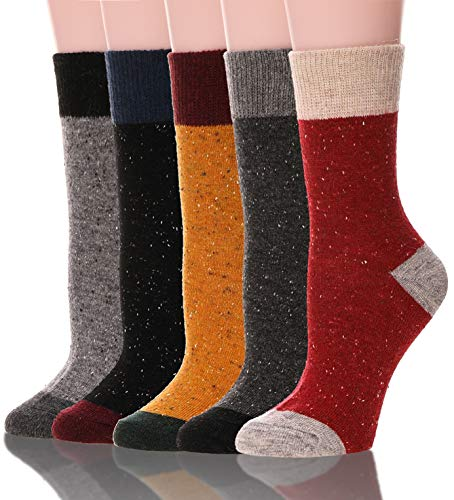 Womens Girls Wool Socks Cat Pattern Warm...