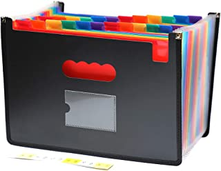 Multicolored Files Folder Organizer (24 Pockets) Accordion A4 Expandable File Organizer, High Capacity with Cloth Edge Wrap and File Guides Wallets Stand Bag for Office/Business/Study (Filefolder24)
