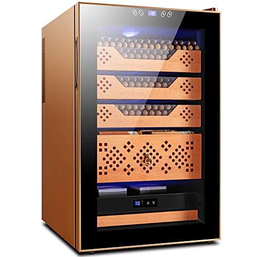 Humidor cigar box cigar luchtbevochtiger Humidor Sigaar Humidor/Cederhout Materiaal/3 Lagen/Vermogen 70W, Spanning 220V/Afmeting 45x52.5x72.5cm/Zwart, Rose Goud (Color : Rose gold)