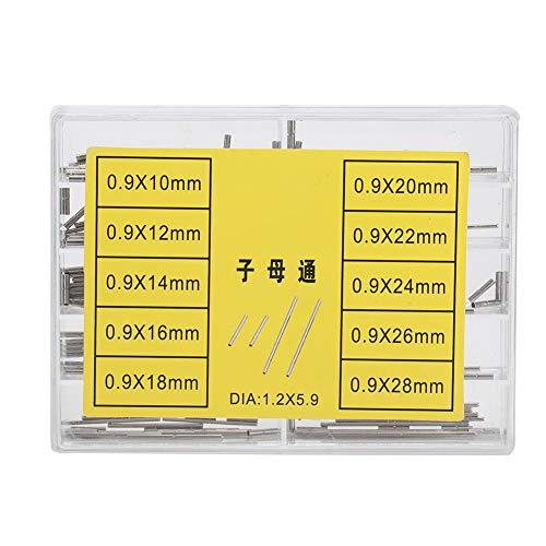 Correa de metal, 10 tipos de correa de reloj Correa de metal para tubos Accesorio de herramienta de reparación de alfileres de reloj, adecuado para fabricantes y reparadores de relojes