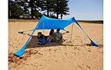 ROMOR Strandmuschel 3-4 Personen Lycra Baldachin Sonnenschirm cool Outdoor Camping Angeln Sonnenschutz Strand Zelt Outdoor Zelte Camping Zelt @ Sky_Blue