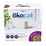 ÖKOCAT Less Mess Low-Tracking, Clumping Mini-pellets Natural Wood Cat Litter, Small