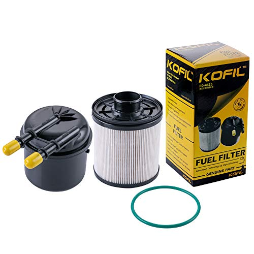 FD-4615 Fuel Filter Fit for 6.7L Powerstroke Fuel Water Separator 4 Micron Compatible with Ford Truck Pickup 2011-2017 F-250 F-350 F-450 F-550 Super Duty Diesel FD4615 Powerstroke Separator BC3Z9N184B