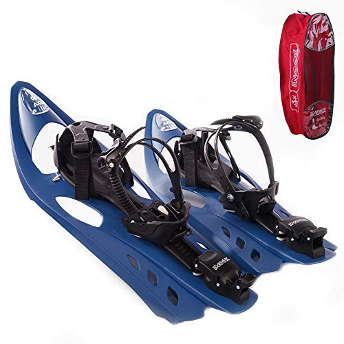 Inook AXM Schneeschuhe I Schneeschuhe mit Steighilfe I EU 36-47 I Schneeschuh Set mit praktischer Schneeschuhe Tragetasche I Individuell größenverstellbar und vielen patentierten Funktionen